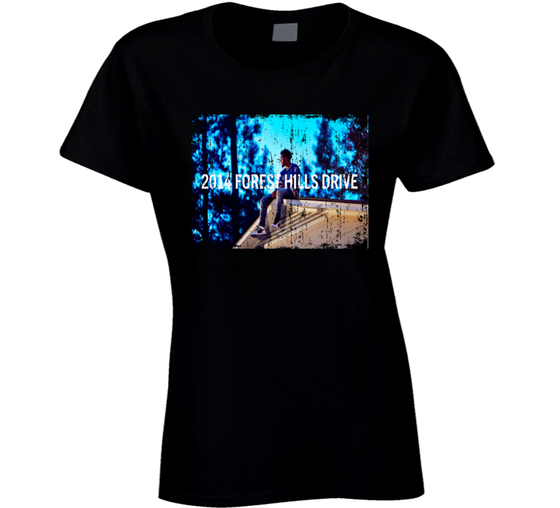 J Cole Forest Hills Drive Worn Look Album Cover T Shirt