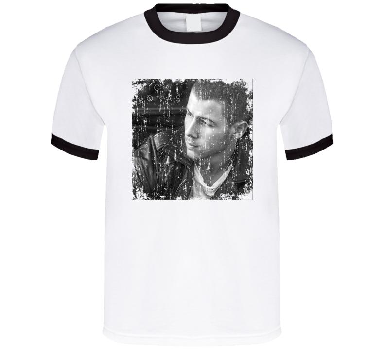 Nick Jonas Nick Jonas Worn Look Album Cover T Shirt