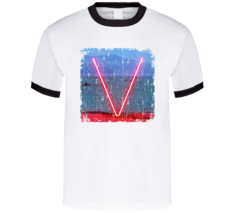 Maroon 5 V Worn Look Album Cover T Shirt
