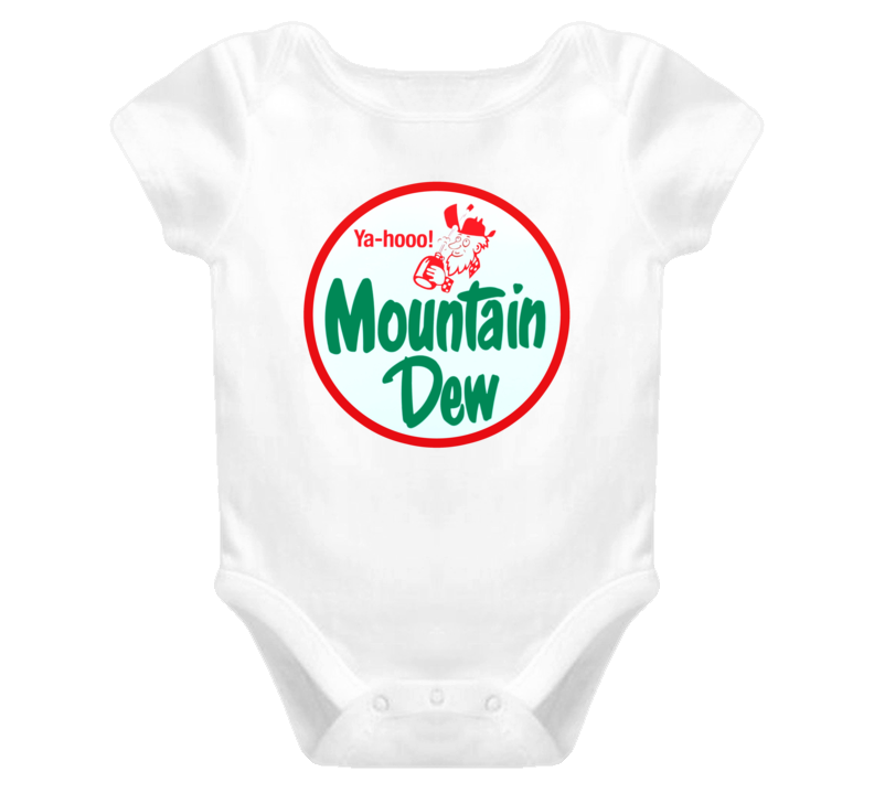 Vintage Yahoo Mountain Dew Retro Ad Campaign Classic Baby Onesie