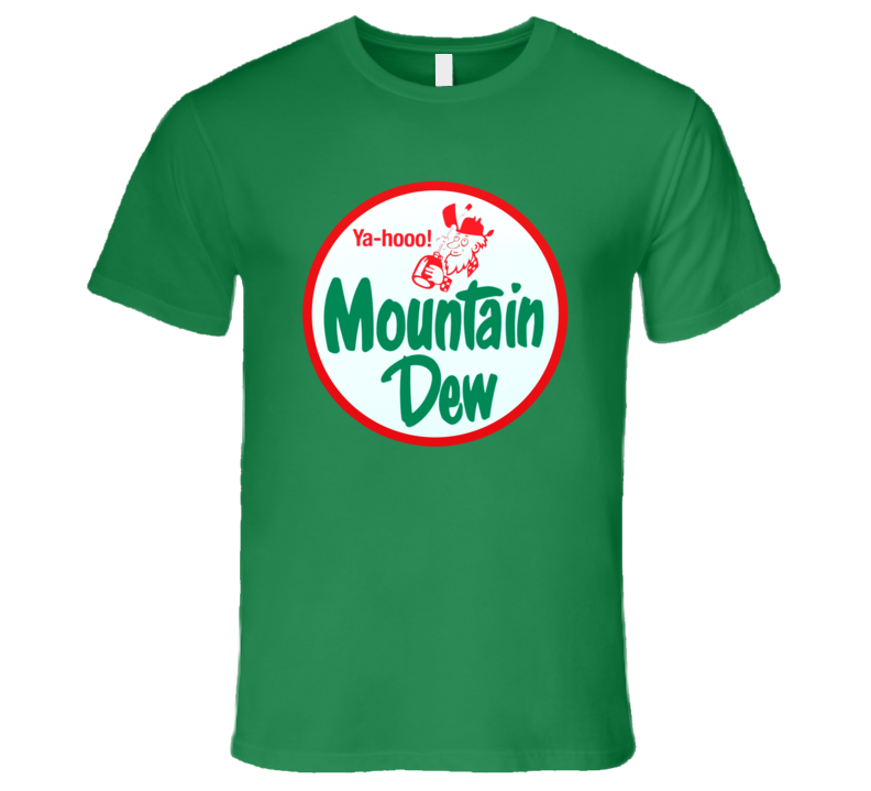 Vintage Yahoo Mountain Dew Retro Ad Campaign Classic Mens T Shirt