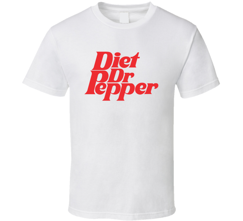 Vintage Diet Dr. Pepper Retro Soda Brand Classic Worn Look T Shirt