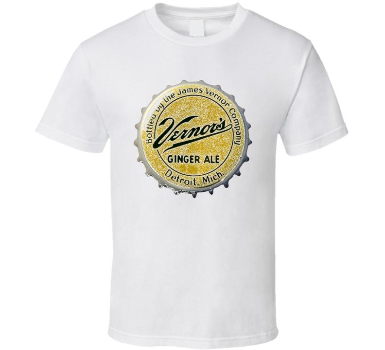 Vintage Vernors Ginger Ale Retro Bottle Cap Worn Look T Shirt