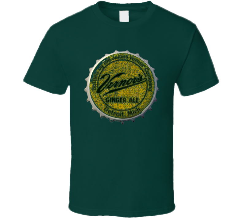 Vintage Vernors Ginger Ale Retro Bottle Cap Worn Look T Shirt