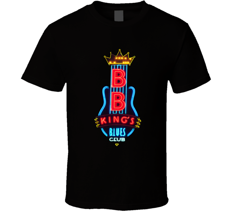B.B. King's Blues Club Memphis Neon Sign Black T Shirt