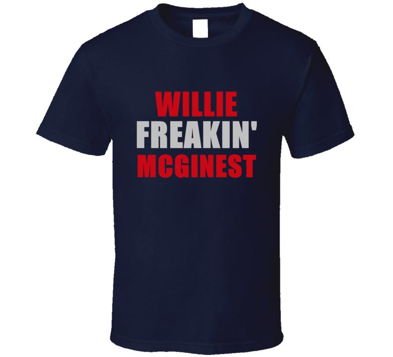 Willie McGinest Freakin Football Sports New England T Shirt