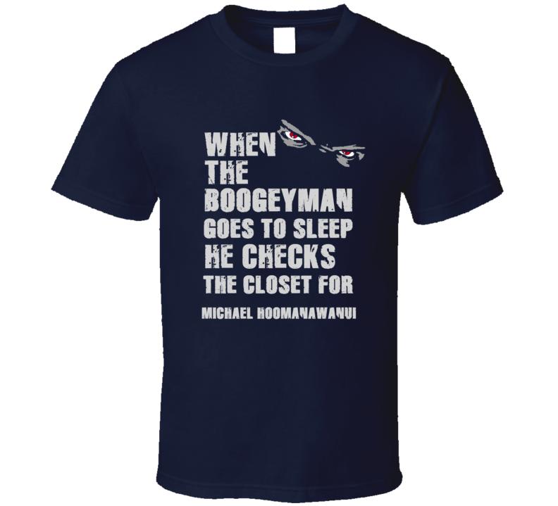 Michael Hoomanawanui Boogeyman Football Sports New England T Shirt