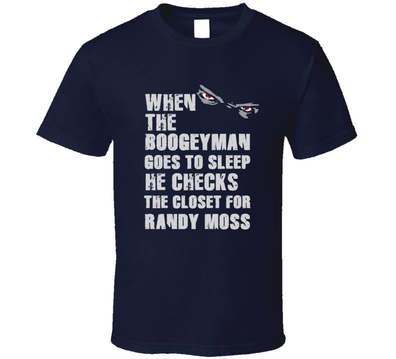 Randy Moss Boogeyman Football Sports New England T Shirt