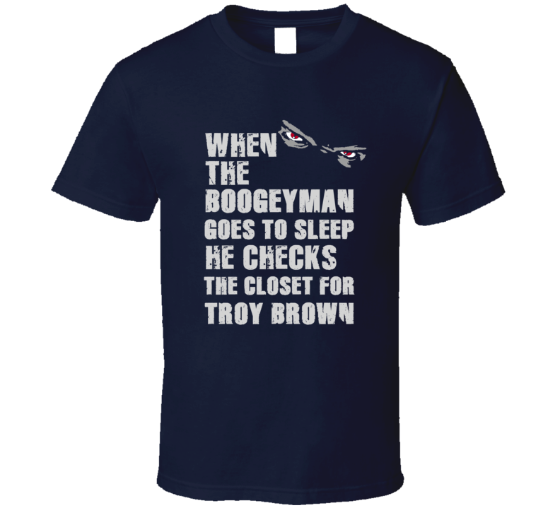 Troy Brown Boogeyman Football Sports New England T Shirt