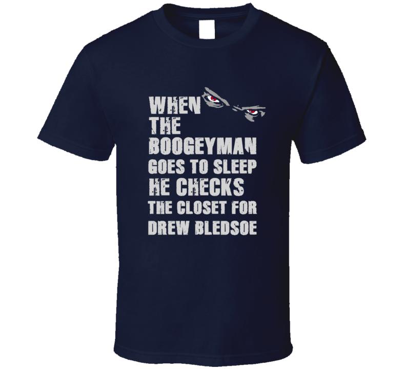 Drew Bledsoe Boogeyman Football Sports New England T Shirt