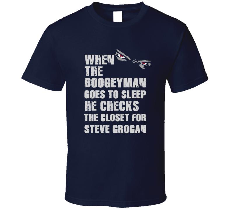 Steve Grogan Boogeyman Football Sports New England T Shirt
