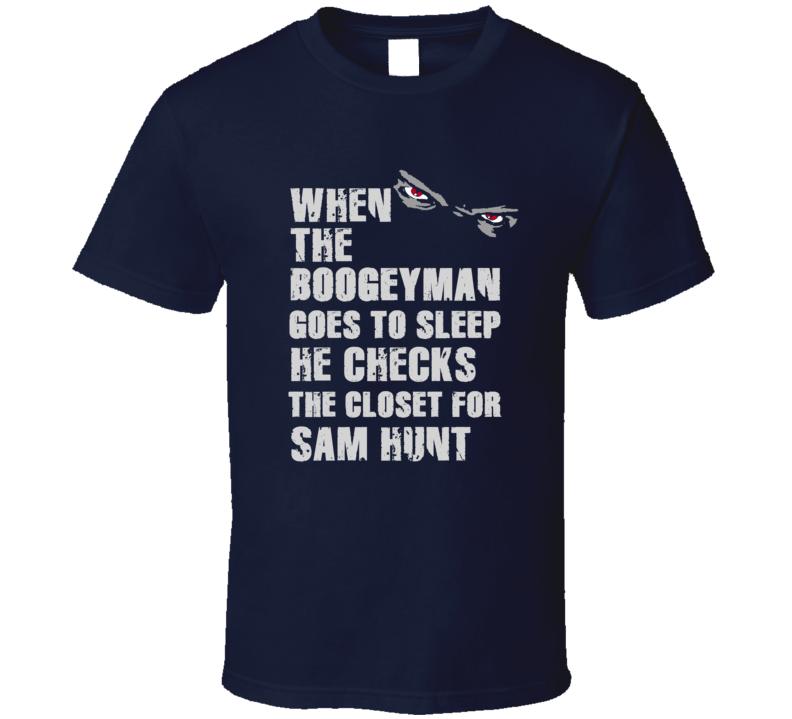 Sam Hunt Boogeyman Football Sports New England T Shirt