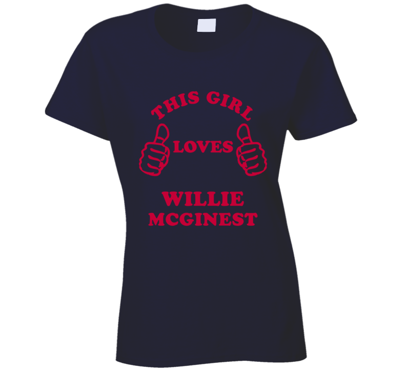 Willie McGinest This Girl Loves Football Sports New England T Shirt