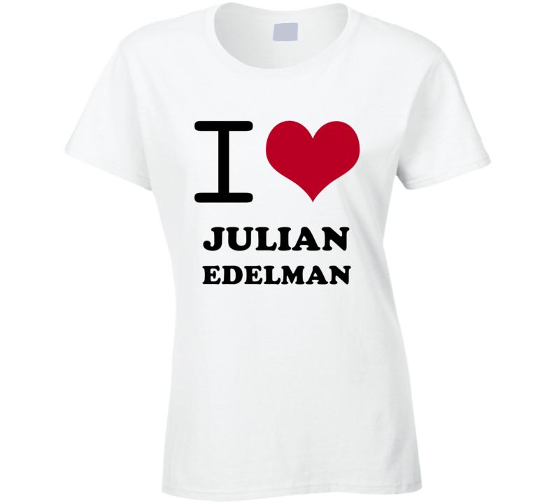 Julian Edelman I Heart Love Football Sports New England T Shirt