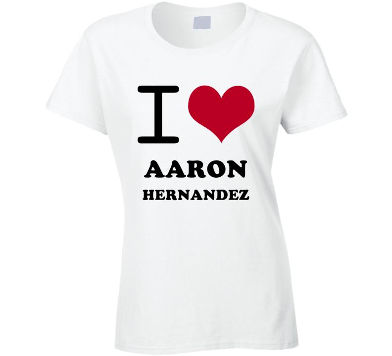 Aaron Hernandez I Heart Love Football Sports New England T Shirt