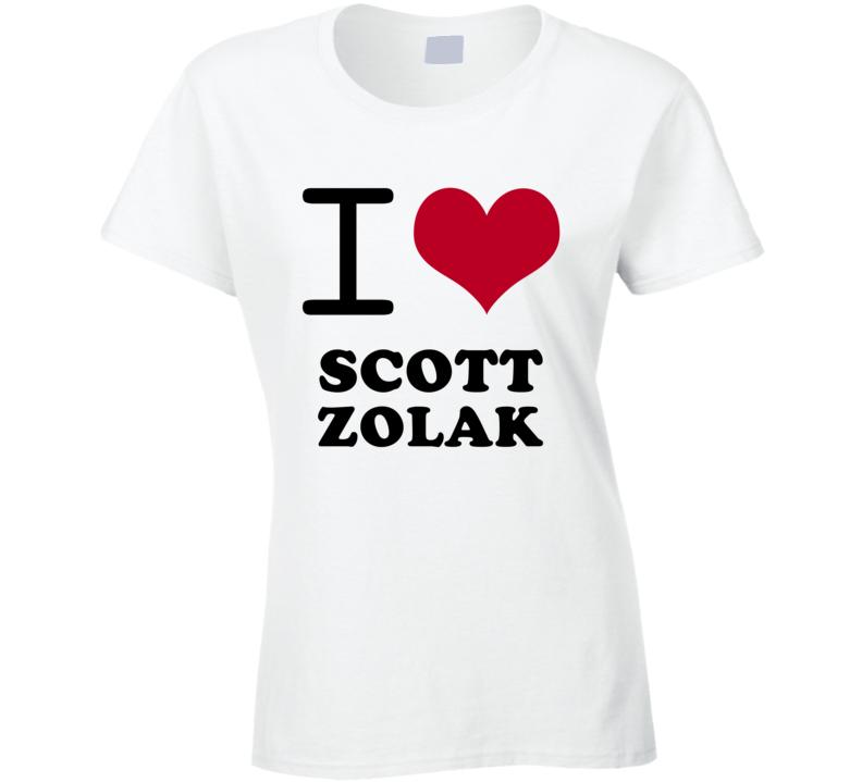 Scott Zolak I Heart Love Football Sports New England T Shirt