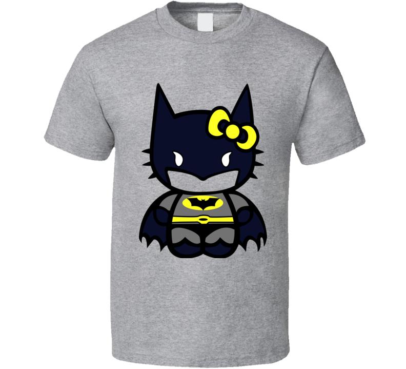Hello Kitty Batman T Shirt - Kids Unisex