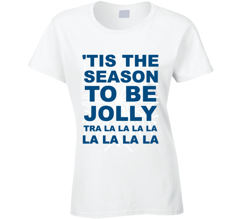 'Tis The Season To Be Jolly Ladies Fitted Christmas T Shirt
