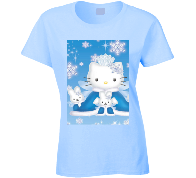 Hello Kitty, Hello Kitty Shirts, Hello Kitty Tee, Hello Kitty Clothes, Ladies Fitted T Shirt