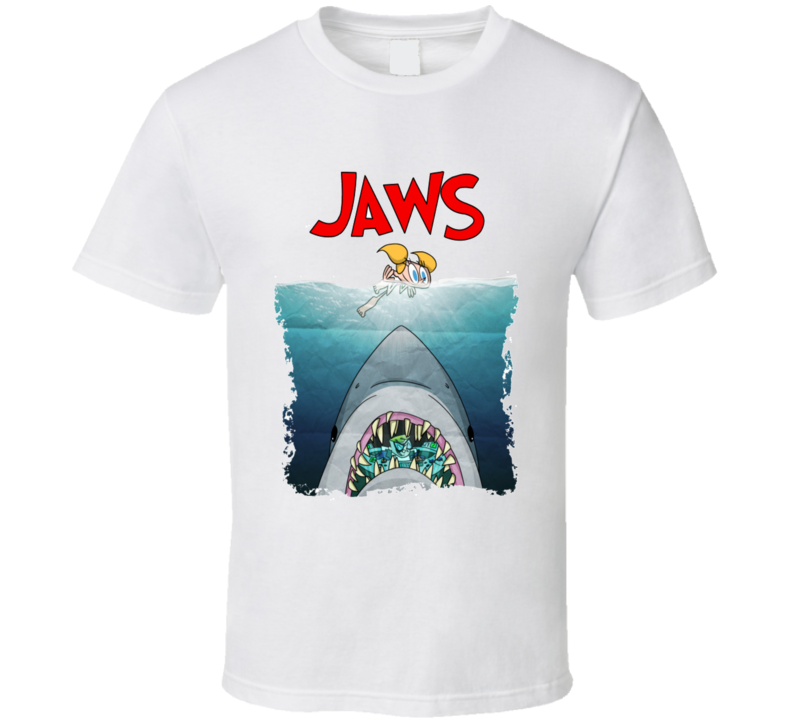 Dexter's Laboratory Funny Jaws Parody T Shirt