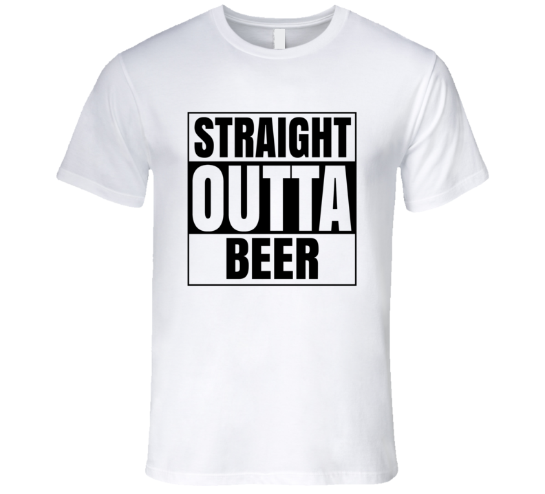 Straight Outta Beer Men's Fitted T Shirt