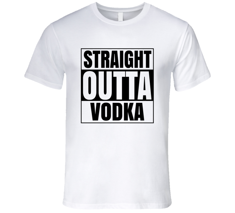 Straight Outta Vodka Men's Fitted T Shirt