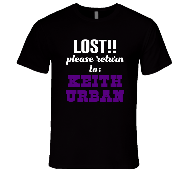 Lost!! Please Return To Keith Urban Premium Fitted Shirt