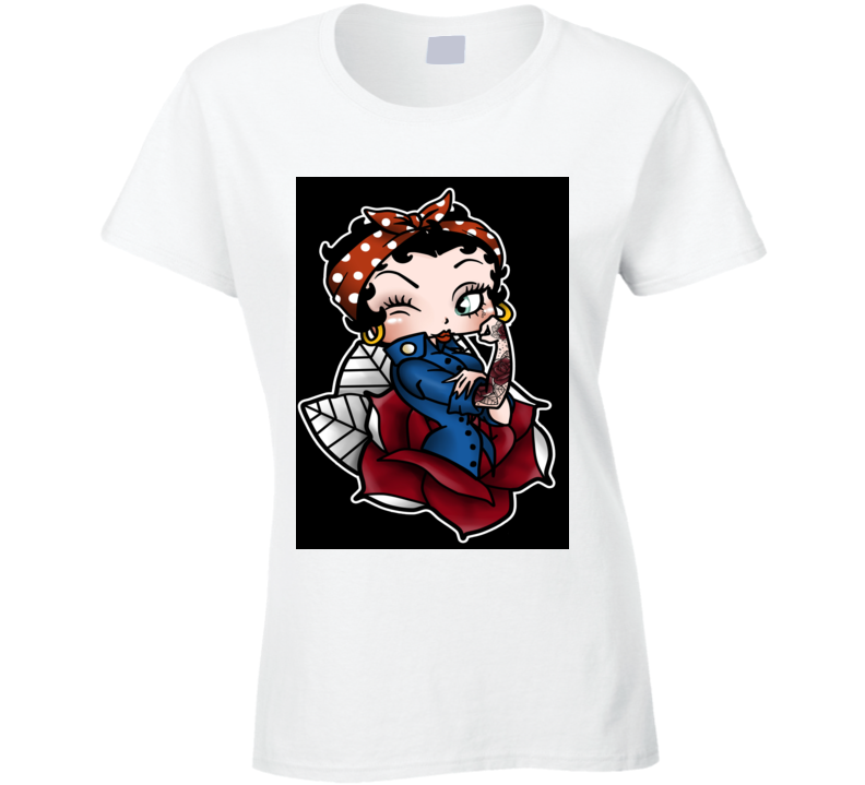 Betty Boop T Shirt, Betty Boop T Shirt, Betty Boop Tee Shirt, Ladies Fitted T Shirt