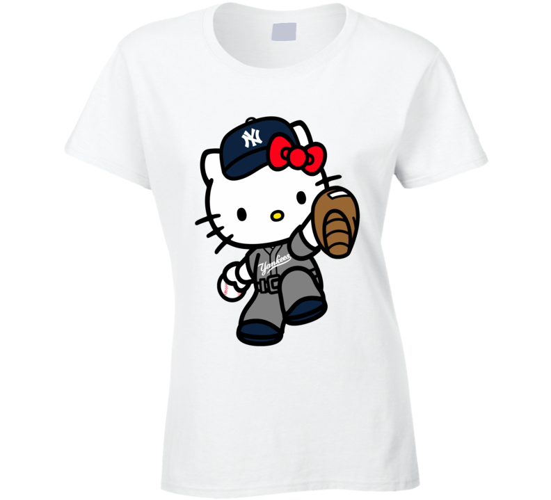 Hello Kitty Shirts, Hello Kitty New York Yankees Shirts, Hello Kitty Sports Team Shirts T Shirt
