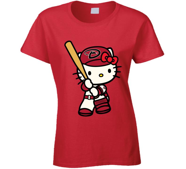 Hello Kitty Shirts, Hello Kitty Arizona Diamondbacks Shirts, Hello Kitty Sports Team Shirts T Shirt