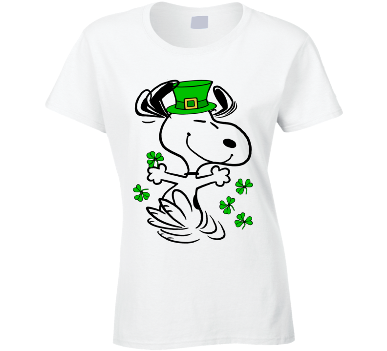 Snoopy Shirt, Snoopy St. Paddy's Day, St. Patrick's Day Shirt, Ladies Fitted