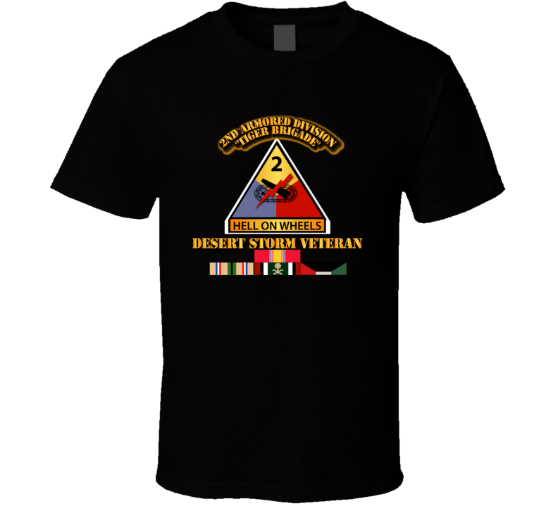 2nd Armored Division - Desert Storm Veteran T Shirt