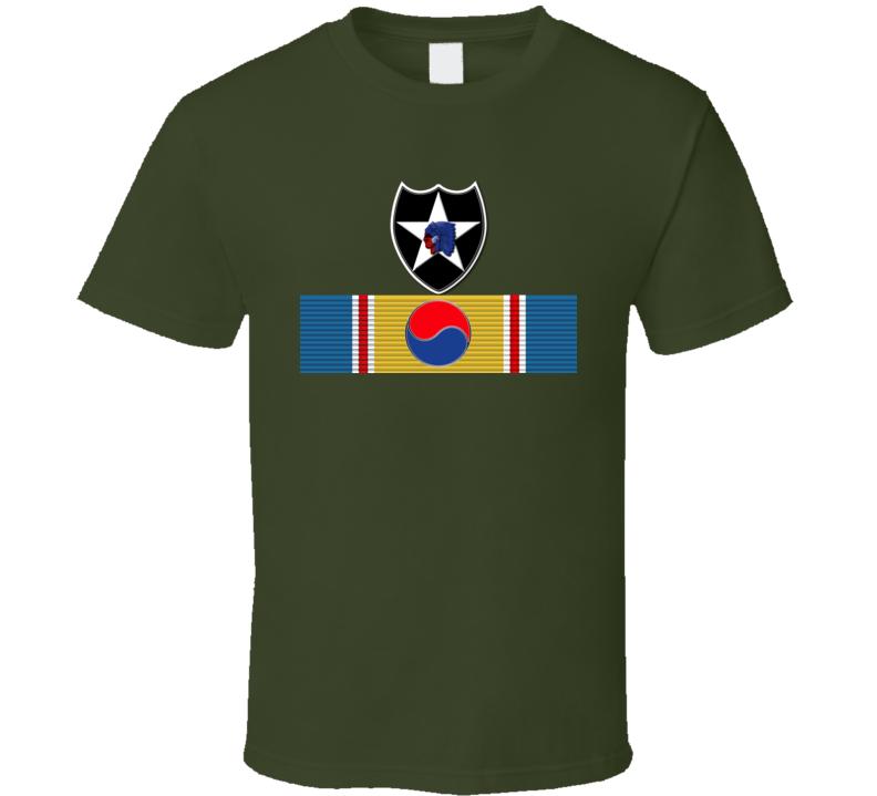 Korean War Svc Medal - 2nd Infantry Division T Shirt