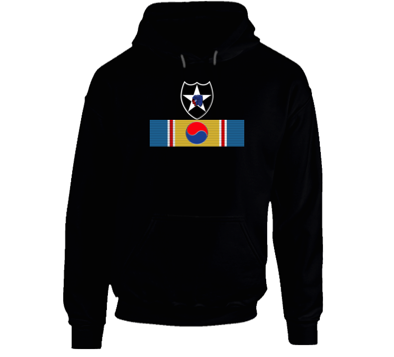 Korean War Svc Medal - 2nd Infantry Division Hoodie