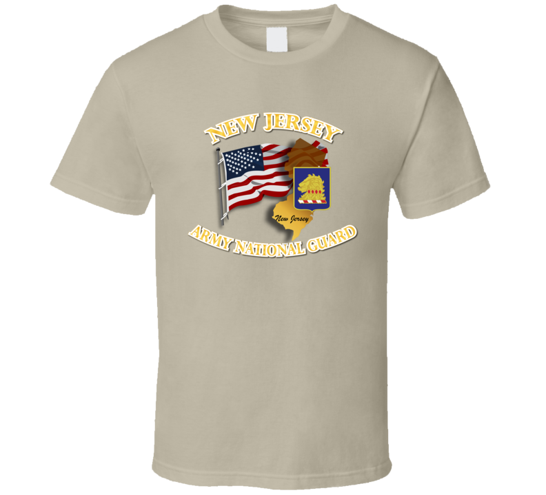ARNG - DUI- ARNG New Jersey w Flag T Shirt
