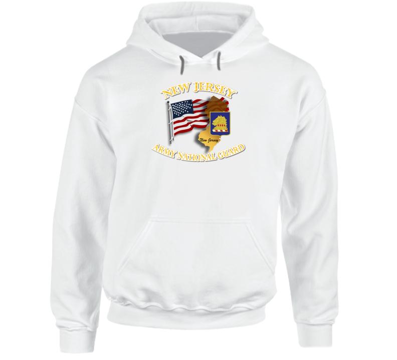ARNG - DUI- ARNG New Jersey w Flag Hoodie