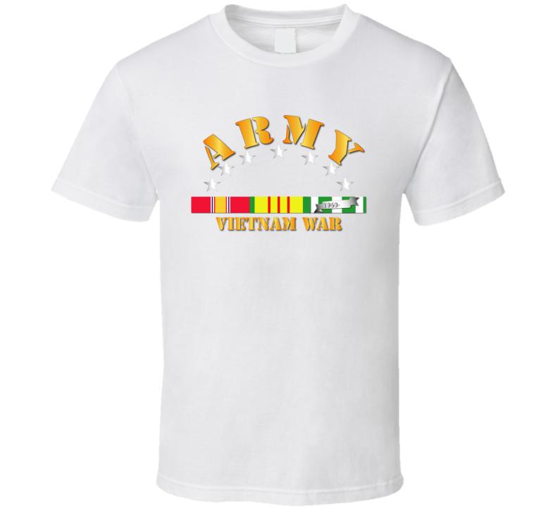 Army -  Vietnam War w SVC Ribbons T Shirt