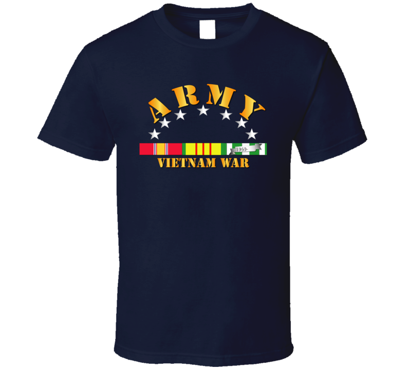 Army -  Vietnam War w SVC Ribbons T Shirt
