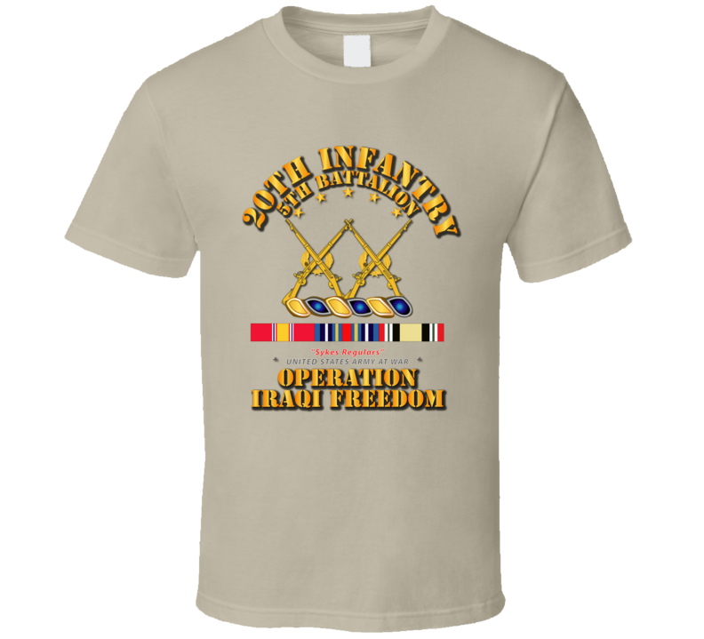 5th Bn - 20th Infantry  - OIF w Svc Ribbons T Shirt