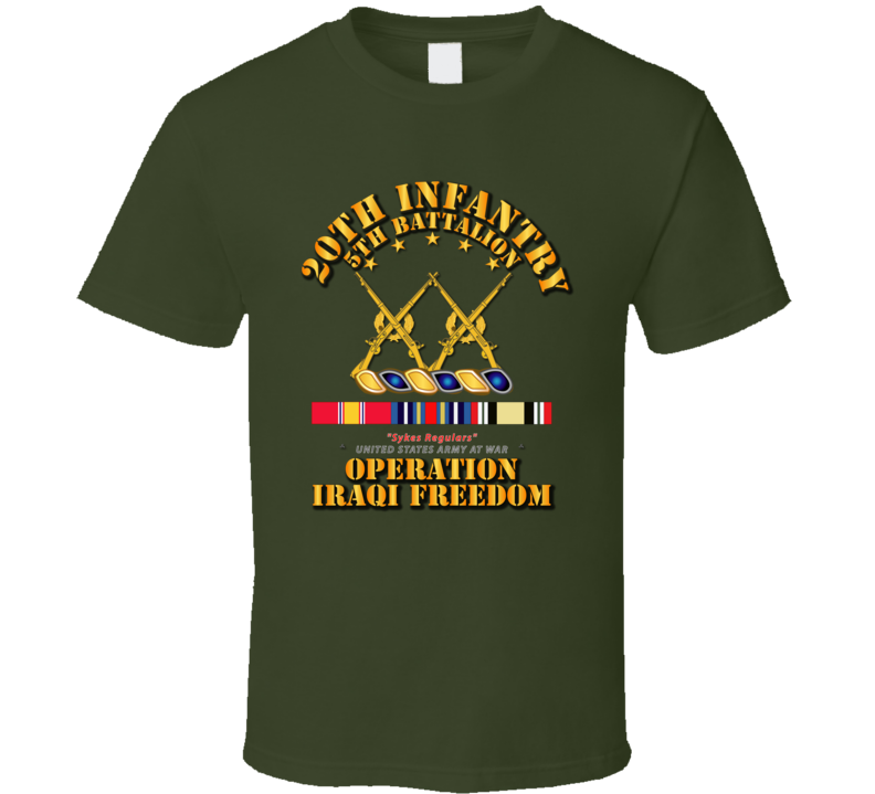 5th Bn - 20th Infantry  - OIF w Svc Ribbons T Shirt