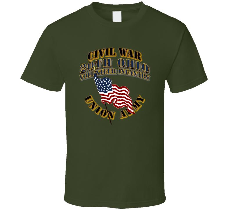 Civil War - 20th Ohio Volunteer Infantry - USA T Shirt