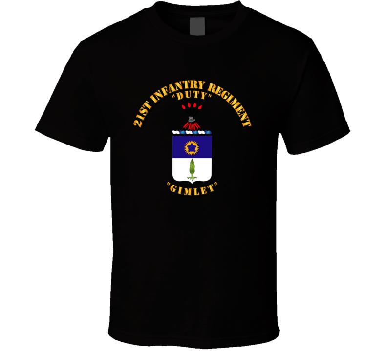 COA - 21st Infantry Regiment T Shirt