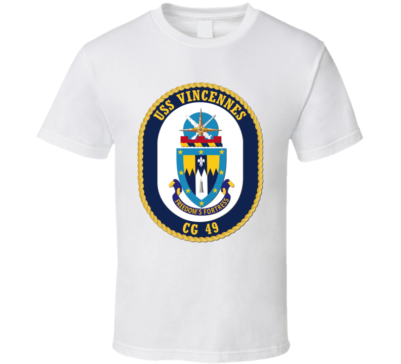 USS Vincennes (CG 49) without Text T Shirt