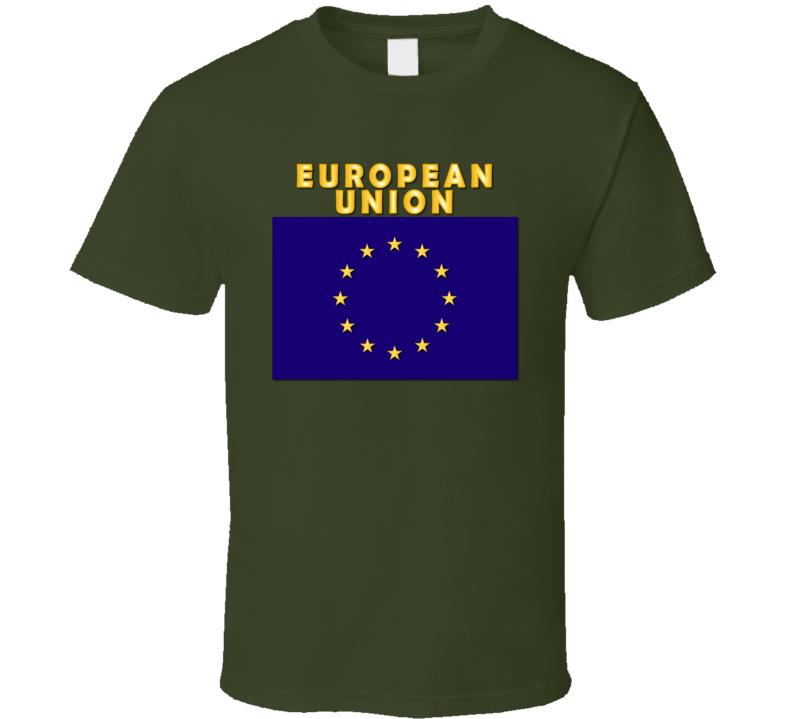Flag - European Union w Txt T Shirt