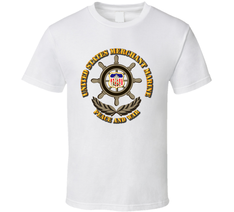 USMM - Peace and War w Color Shield T Shirt