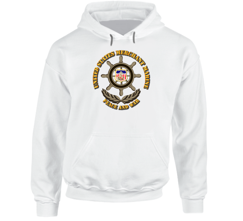 USMM - Peace and War w Color Shield Hoodie