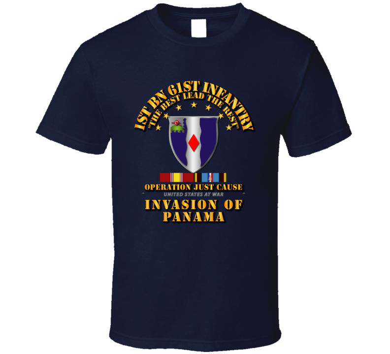 Just Cause - 1st Bn 61st Infantry w Svc Ribbons T Shirt