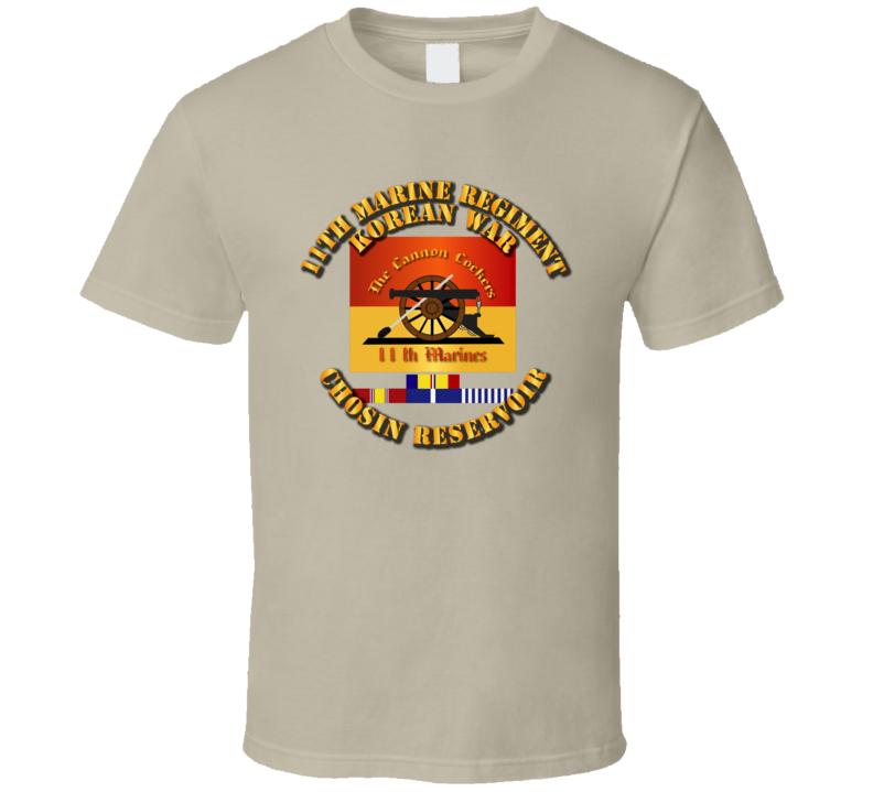 11th Marine Regt - Korea - Chosin w SVC Ribbons T Shirt