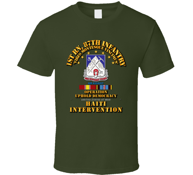 Uphold Demo - 1st Bn 87th Infantry w Svc Ribbons T Shirt