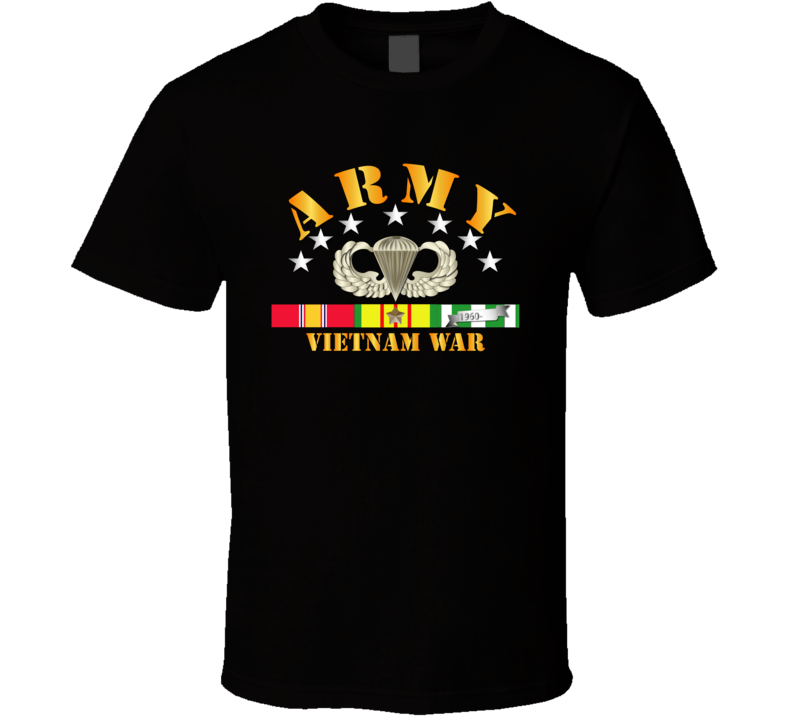 Army -  Vietnam War w SVC Ribbons w Abn T Shirt